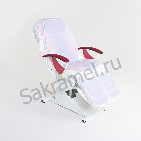 Чехол на кушетку многоразовый (ПВХ, белый, 210х90 см, 1 шт/упк, штучно)