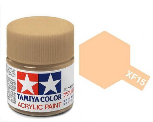 XF-15 Краска Tamiya, Телесный Матовый (Flat Flesh), акрил 10мл