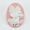 "Камея ""Феечка на цветке"" на розовом фоне 40х30 мм ()"