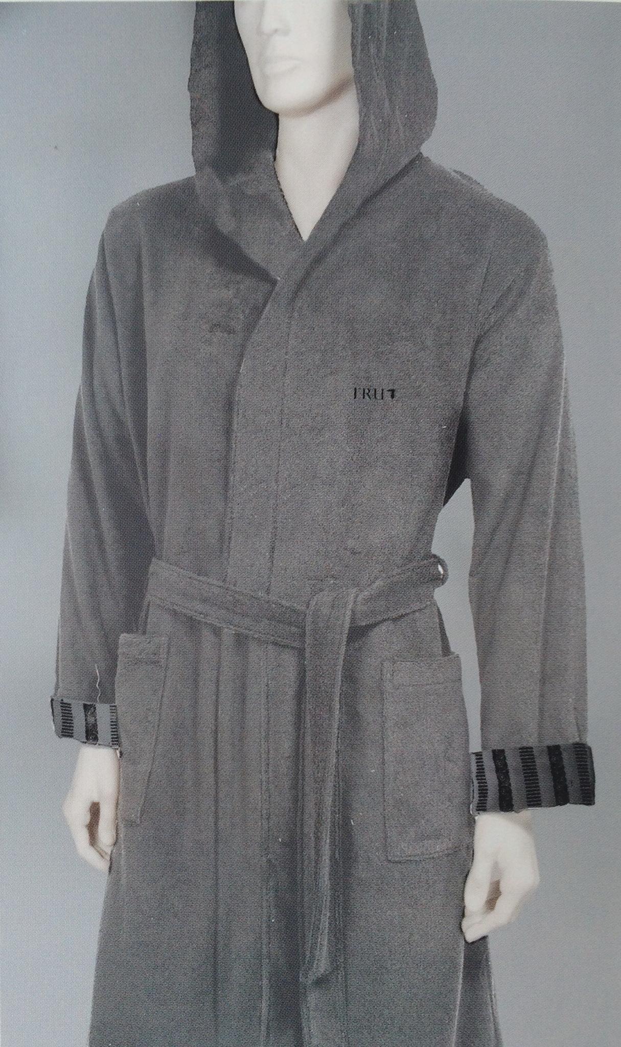 Элитный махровый халат Master серый от Trussardi