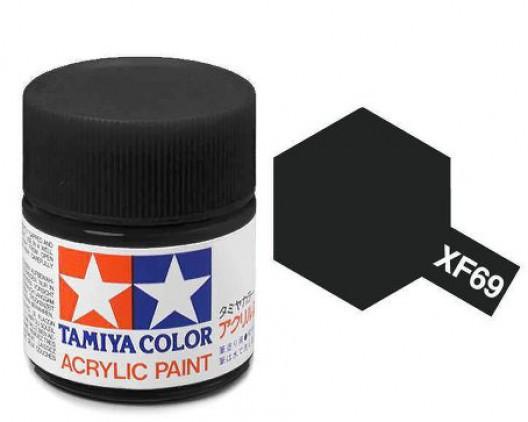 XF-69 Краска Tamiya, Черный Натовский Матовый (NATO Black), акрил 10мл
