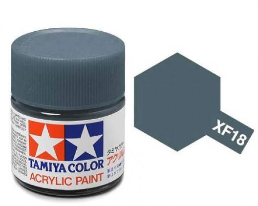 XF-18 Краска Tamiya, Синий Средний Матовый (Medium Blue), акрил 10мл
