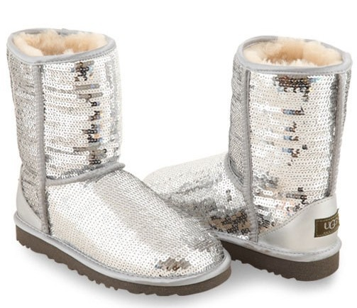 UGG Classic Short Sparkles Silver