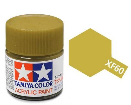 XF-60 Краска Tamiya, Темно-желтый Матовый (Dark Yellow), акрил 10мл