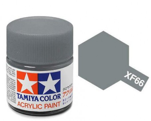 XF-66 Краска Tamiya, Серый Светлый Матовый (Light Grey), акрил 10мл