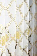 Тюль. Лён с вышивкой (Дамаск)