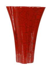 Элитная ваза декоративная Red Passion волнистая средняя от Sporvil