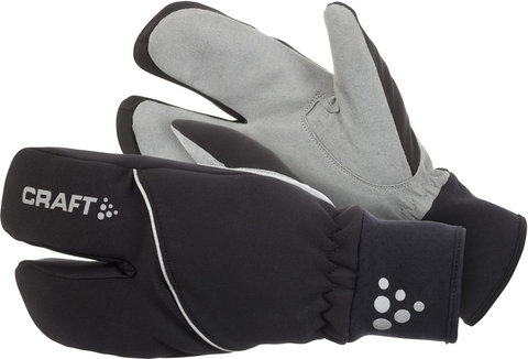 Тёплые двупалые Перчатки лобстеры Craft Split Finger black