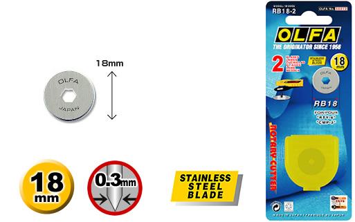 Лезвие для ножа RTY-4 0,3мм, RB18-2