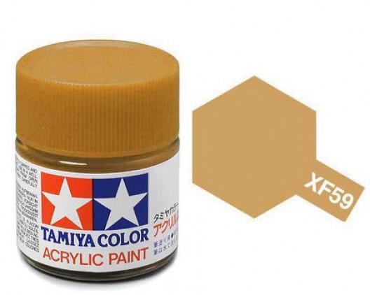 XF-59 Краска Tamiya, Пустынно-желтый Матовый (Desert Yellow), акрил 10мл