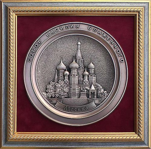 """Панно """"Москва. Храм Покрова на Рву"""""""