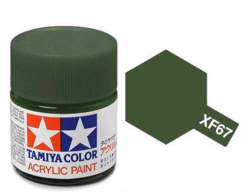 XF-67 Краска Tamiya, Зеленый Натовский Матовый (NATO Green), акрил 10мл