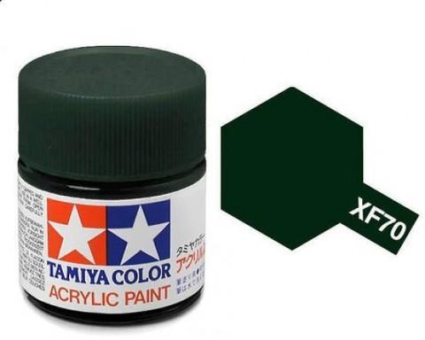 XF-70 Краска Tamiya, Темно-зеленый 2 Матовый (Dark Green 2), акрил 10мл