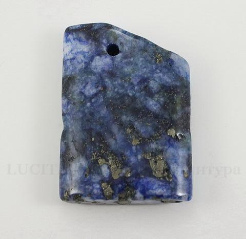 Подвеска Ляпис Лазурит (прессов., тониров) (цвет - темно-синий) 36,3х26,1х8 мм №90