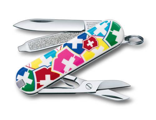"Нож-брелок Victorinox Classic, 58 мм, 7 функ, ""VX Colors""  (0.6223.841)"