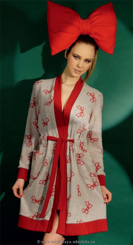 Домашний халат с бантиками DolceVita (Женские халаты)