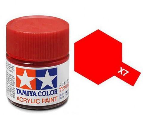 X-7 Краска Tamiya, Красный Глянцевый (Red), акрил 10мл