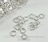 Комплект колечек одинарных (цвет - серебро) 5х1 мм, примерно 1000 штук ()