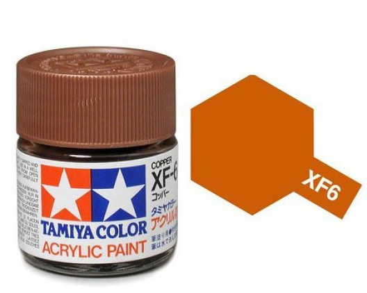 XF-6 Краска Tamiya, Медный Матовый (Copper), акрил 10мл
