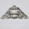 Винтажный декоративный элемент - штамп 49х25 мм (оксид серебра)