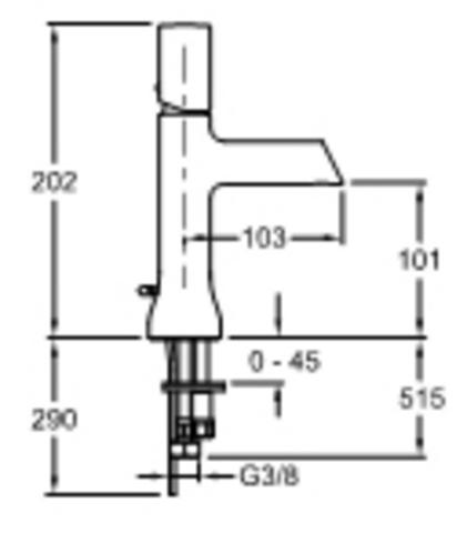 Jacob Delafon Toobi cмеситель для раковины E8959-CP