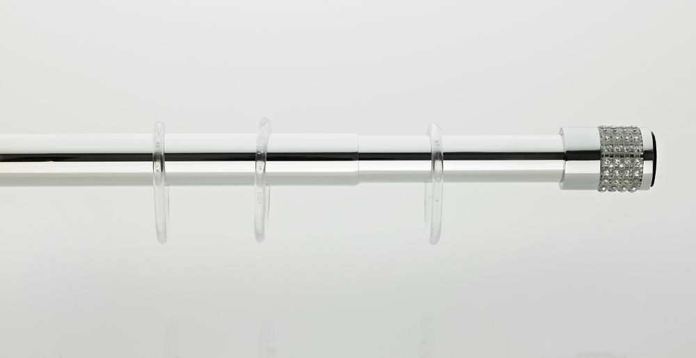 Карниз для ванной комнаты со стеклянными стразами 75-125 см от Grekon