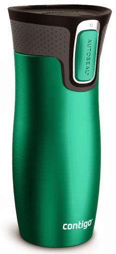 Термокружка Contigo West Loop (0.47 литра) зеленая матовая