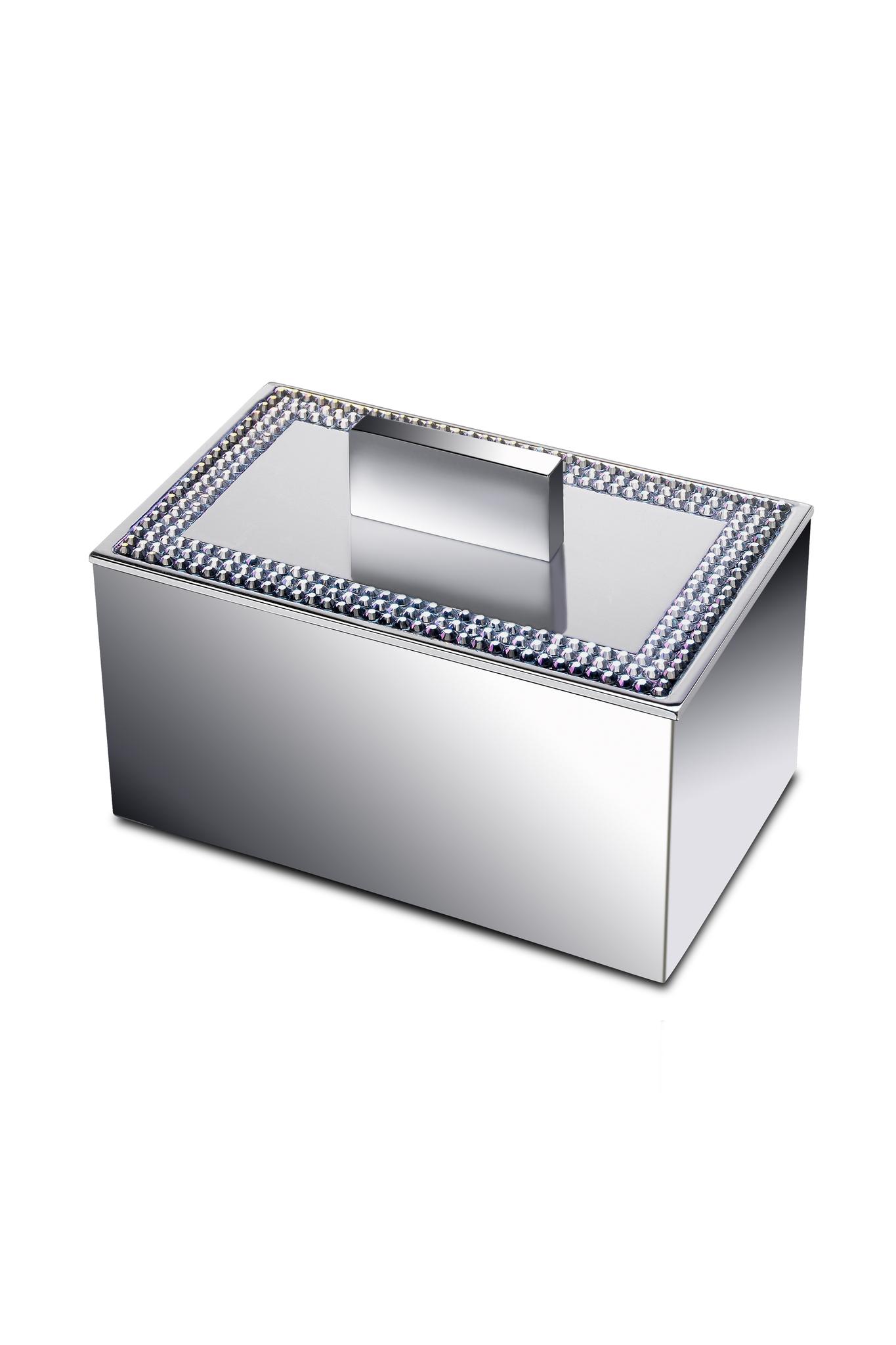 Баночки для косметики Емкость для косметики малая Windisch 88537CR Shine Light Square banochka-malaya-88537-shine-light-ot-windisch-ispaniya.jpg