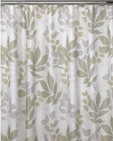 Элитная шторка для ванной Shadow Leaves от Creative Bath