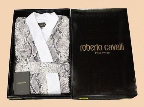 Элитный халат-кимоно двойной Grace коричневый от Roberto Cavalli