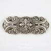 Винтажный декоративный элемент - филигрань 42х17 мм (оксид серебра) ()