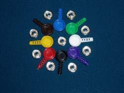Комплект F9012/3 из металлической кнопки и цветной оболочки для нее, цвет - черный, вывод под кабель 3,2мм (150руб/шт)