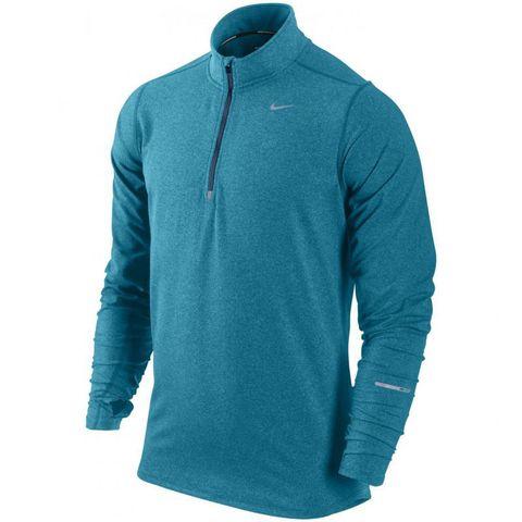 Мужская беговая футболка Nike Element 1/2 Zip LS  (504606 425)