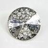 1122 Rivoli Ювелирные стразы Сваровски Crystal Silver Patina (14 мм)