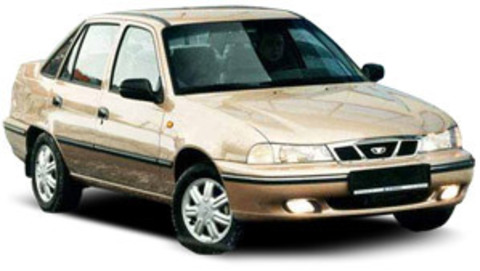 Защита передних фар карбон Daewoo Nexia 1995- (EGR7102CF)