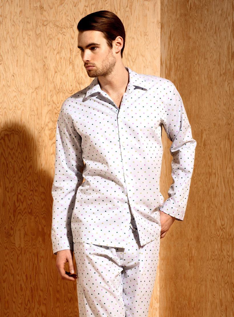 Мужская пижама в горошек Zimmerli (Домашние костюмы и пижамы)