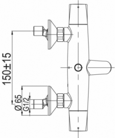 Jacob Delafon Elevation cмеситель для ванны / душа E18874-CP