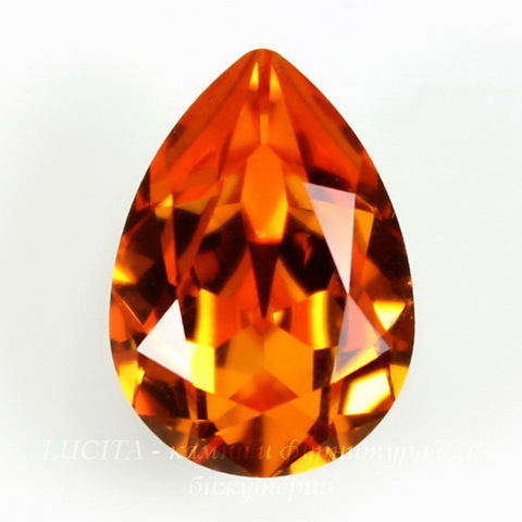 4320 Ювелирные стразы Сваровски Капля Tangerine (14х10 мм) ()