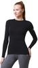 Женская термофутболка с длинным рукавом и круглым воротом Norveg Soft Shir чёрная (14SW1RL-002)