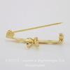 Винтажная основа для броши/ кулона 33х5 мм с петелькой 7 мм (цвет - золото)