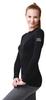 Женская термофутболка с длинным рукавом и круглым воротом Norveg Soft Shir чёрная (14SW1RL-002) фото