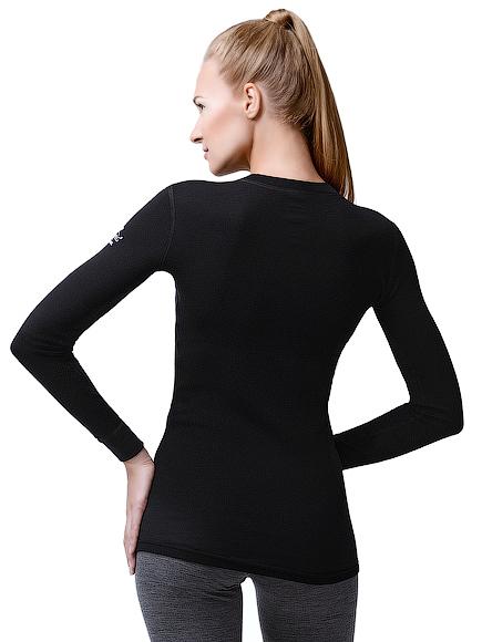 Женская термофутболка с длинным рукавом и круглым воротом Norveg Soft Shir (14SW1RL-002)