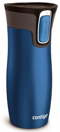 Термокружка Contigo West Loop (0.47 литра) синяя матовая