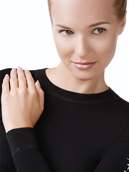 Женская термофутболка с длинным рукавом  Norveg Soft Shir чёрная (14SW1RL-002)