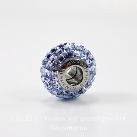 Бусина Сваровски BeCharmed Pave Light Sapphire 15х9 мм ()