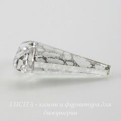 6480 Подвеска Сваровски Spike Crystal Silver Patina (18 мм)