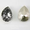 4320 Ювелирные стразы Сваровски Капля Crystal Black Patina (18х13 мм)