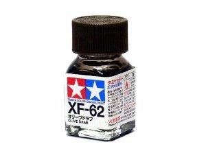 XF-62 Краска Tamiya Оливковый Тусклый Матовая (Olive Drab), эмаль 10мл