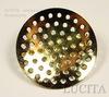 Основа для броши с круглой площадкой 27 мм (цвет - золото) ()
