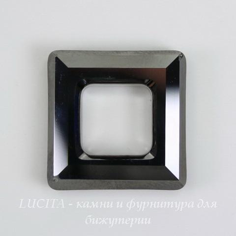 4439 Подвеска Сваровски Square Ring Crystal Silver Night  (20 мм) ()
